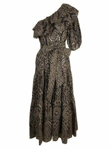 Lisa Marie Fernandez asymmetric flared dress - Black