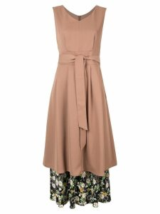 Loveless layered midi dress - Brown