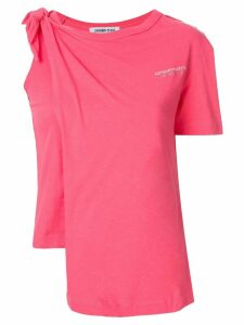 Ground Zero knotted T-shirt - Pink