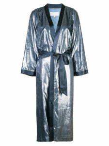 Michelle Mason shimmery kimono coat - Blue
