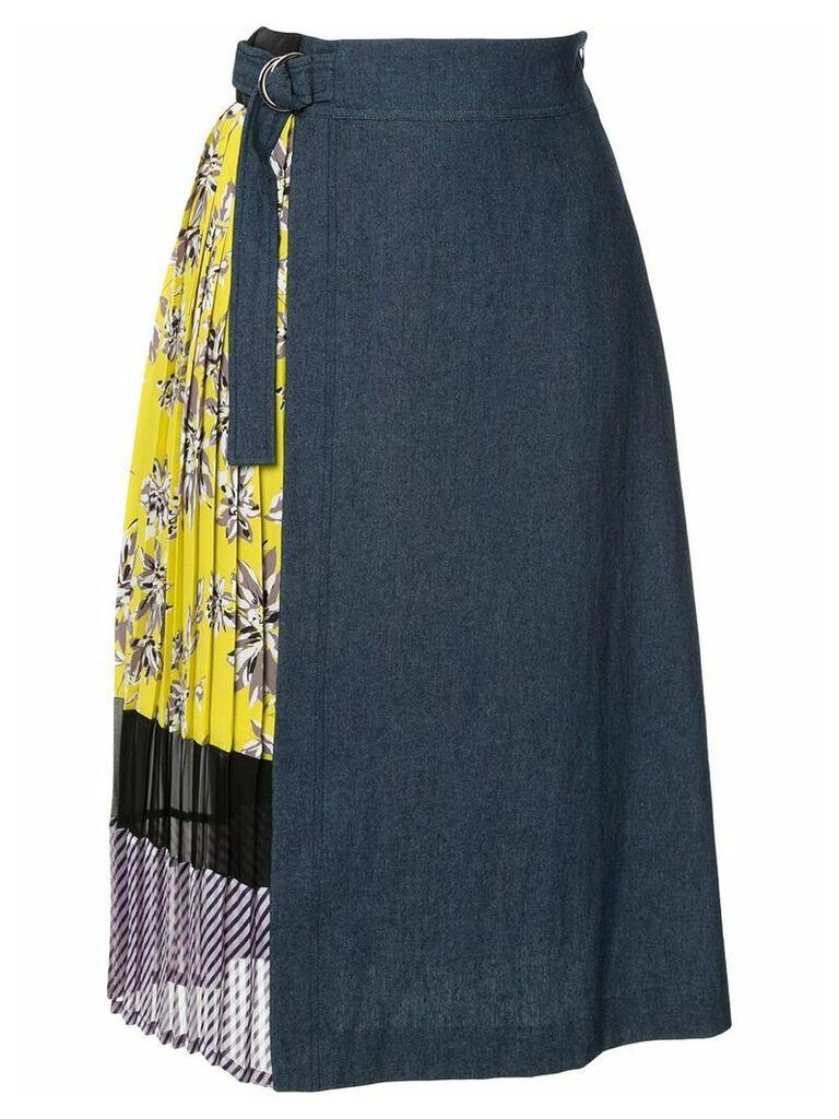 Guild Prime contrast panel skirt - Blue