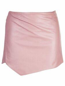 Michelle Mason wrap mini skirt - Neutrals