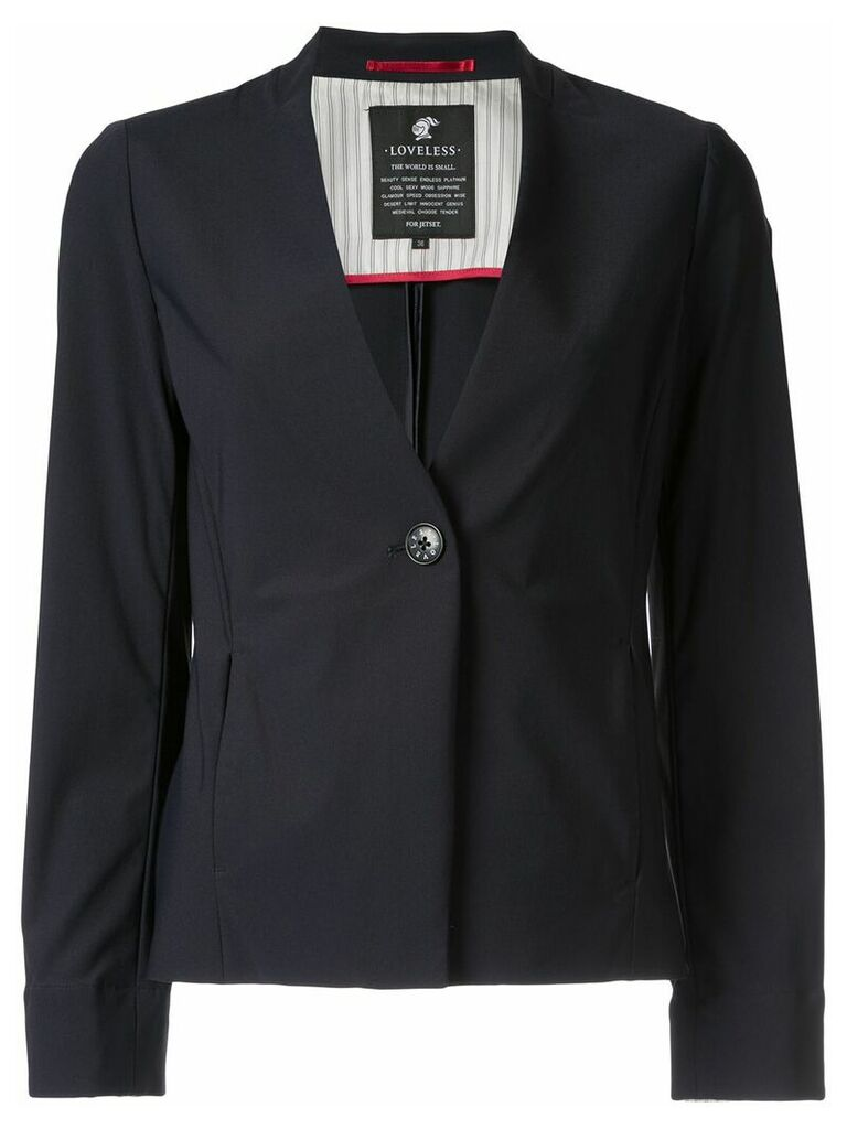 Loveless v-neck blazer - Blue