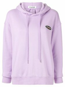 Ground Zero cut out back hoodie - Purple