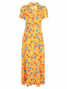Lhd floral print full-length dress - Yellow