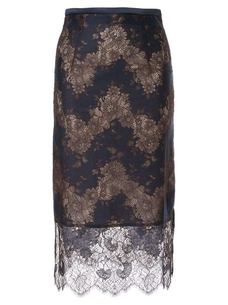Loveless lace inserts skirt - Blue
