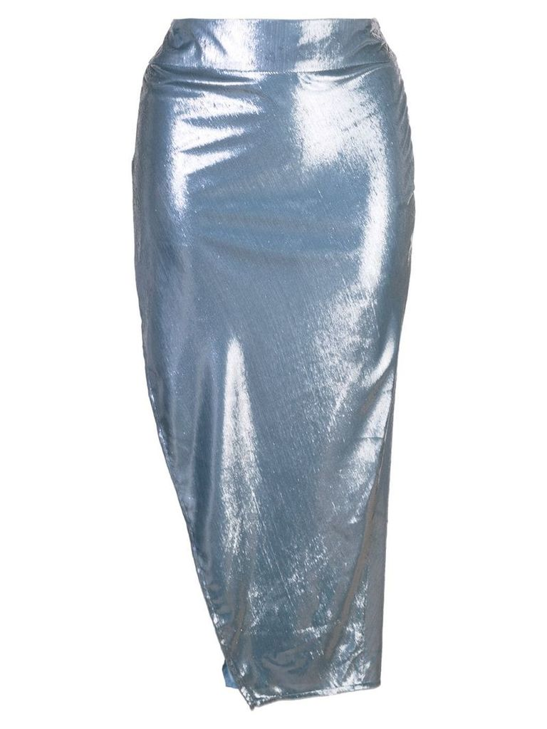 Michelle Mason side slit skirt - Blue