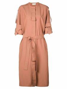 Lemaire strap details coat-dress - PINK