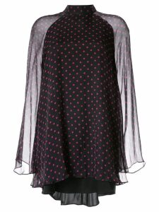 RtA polka dot print mini dress - Black