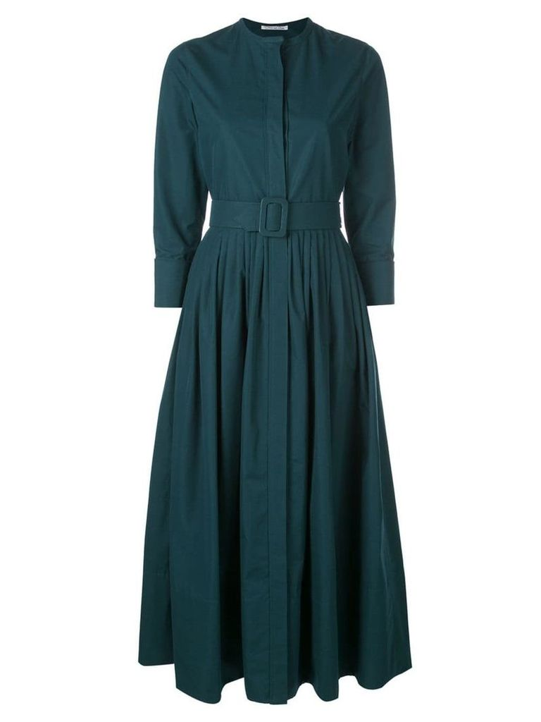 Oscar de la Renta flared shirt dress - Green