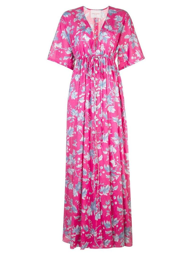 Carolina Herrera floral print maxi dress - Pink