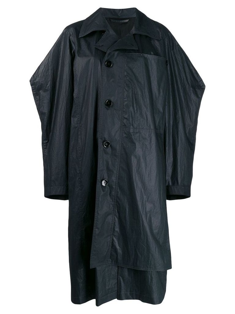 Lemaire oversized trench coat - Blue