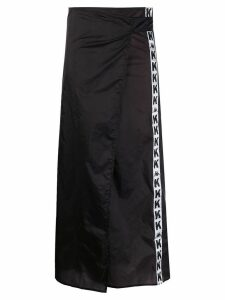 Kappa Kontroll logo tape mid-length skirt - Black