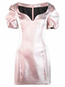 AREA puffball mini dress - Pink