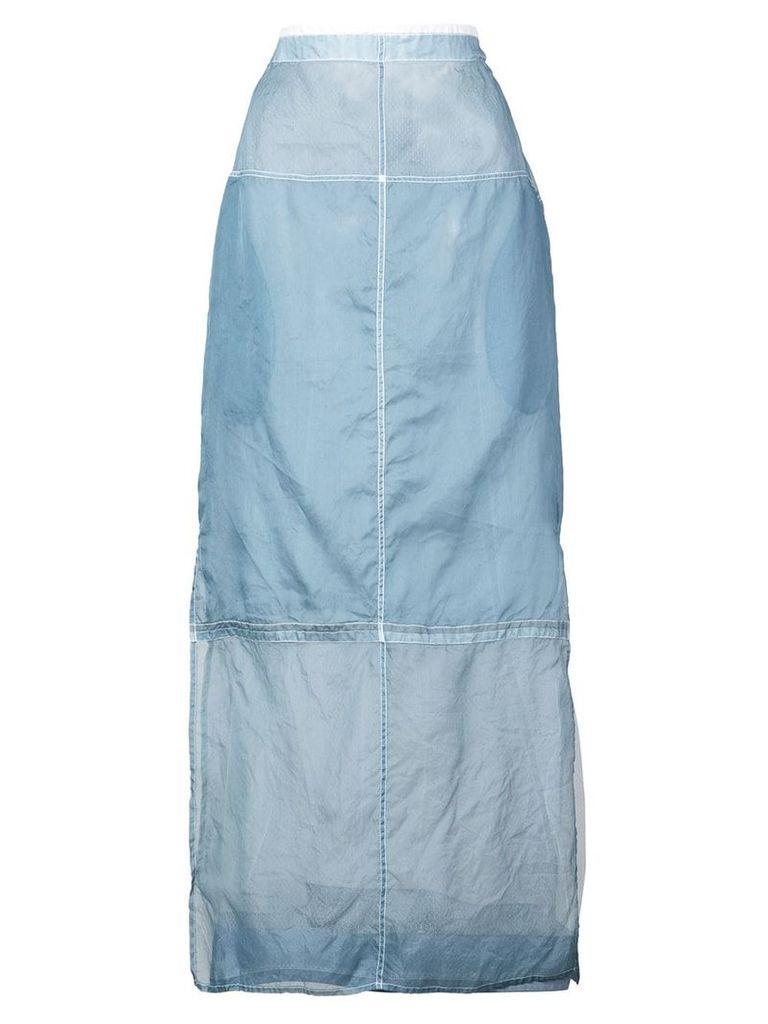 Jil Sander deconstructed midi skirt - Blue