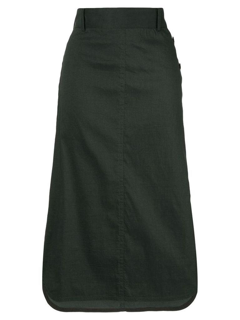 Des Prés slit detail skirt - Black