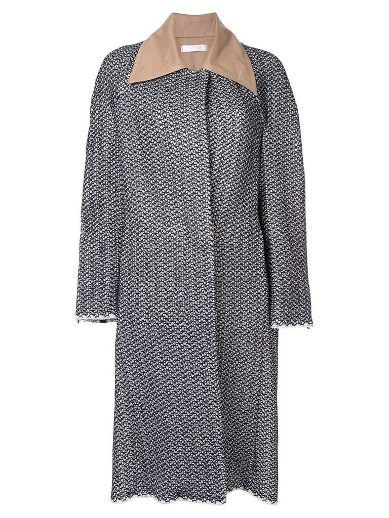 Litkovskaya boxy single-breasted coat - Black