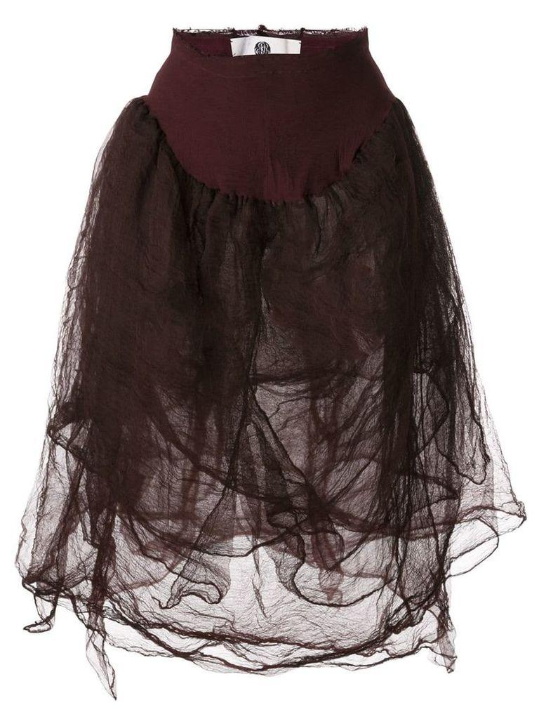 Marc Le Bihan elasticated waist skirt - Red