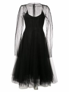 Marc Le Bihan tulle midi dress - Black