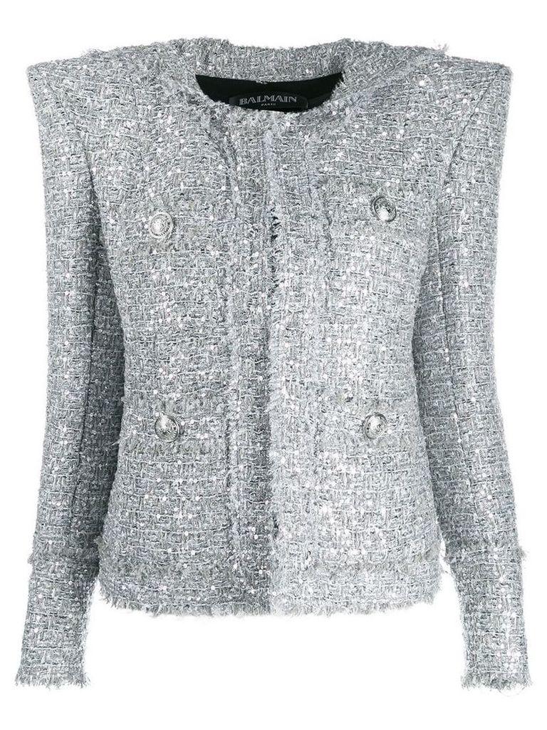 Balmain tweed blazer - Silver