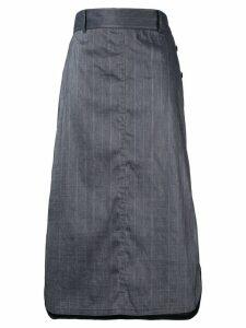 Des Prés check print skirt - Grey