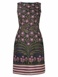 Giambattista Valli floral embroidered pencil dress - Blue