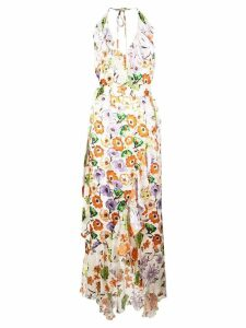 Alice+Olivia floral wrap dress - White