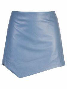 Michelle Mason wrap mini skirt - Blue