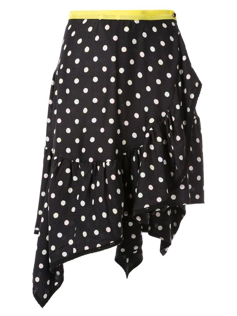 Koché polka dot wrap skirt - Black
