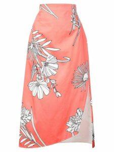 Silvia Tcherassi floral print midi skirt - Pink