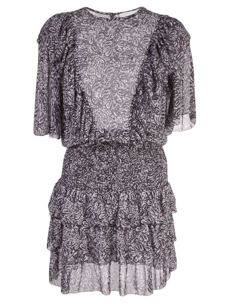 Les Coyotes De Paris Nara printed short dress - Purple