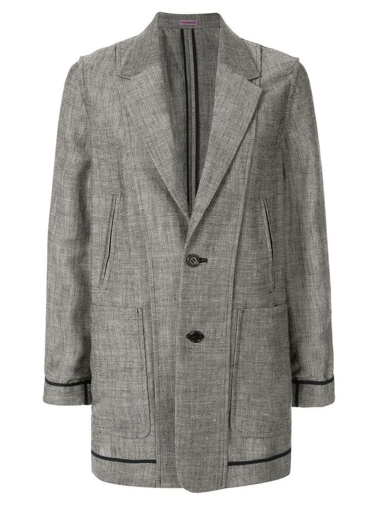 Undercover single breasted chevron blazer - Grey