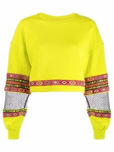 Gaelle Bonheur cropped sweater - Green