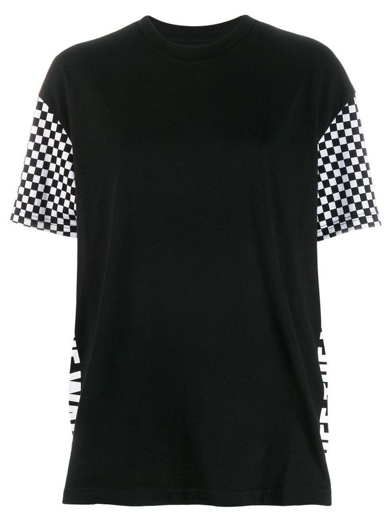 Vans checked sleeves T-shirt - Black