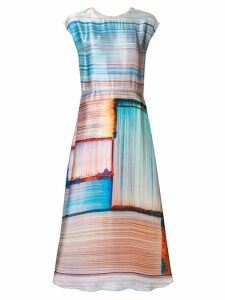 Poiret abstract stripe satin dress - Multicolour