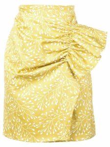 Silvia Tcherassi blossom print skirt - Yellow