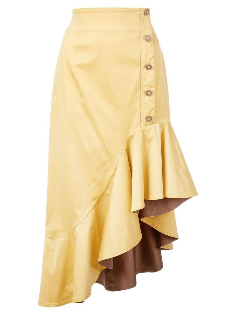 Silvia Tcherassi asymmetric hem skirt - Yellow