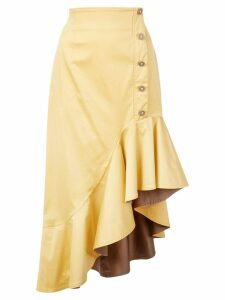 Silvia Tcherassi asymmetric hem skirt - Yellow
