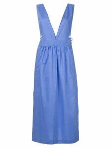 Mm6 Maison Margiela V-neck pinafore dress - Blue