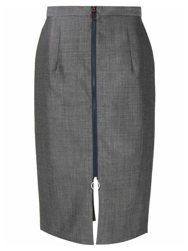 Toga zip detail pencil skirt - Grey