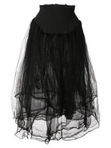 Marc Le Bihan elasticated waist skirt - Black