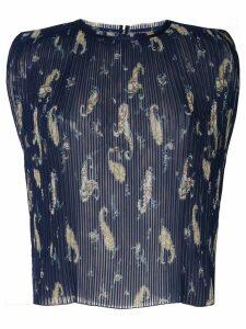 Ballsey paisley print pleated blouse - Blue