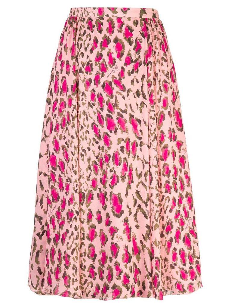 Carolina Herrera leopard print skirt - Pink