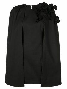 Acler cape layer mini dress - Black