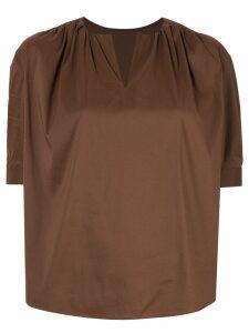 Tomorrowland v-neck blouse - Brown