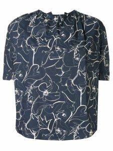 Tomorrowland printed v-neck blouse - Blue