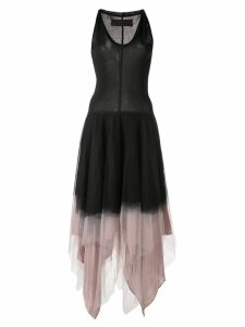 Marc Le Bihan tulle panel midi dress - Black
