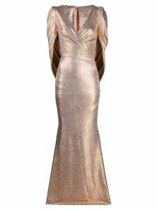 Talbot Runhof Rosin metallic dress - Gold