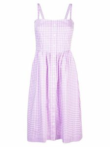 HVN Laura gingam dress - Purple