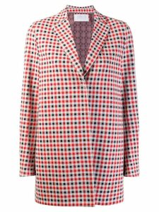 Harris Wharf London gingham check blazer - Red